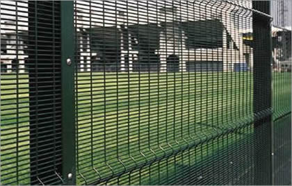3510 security fence with V beams offers safety protection for grass land