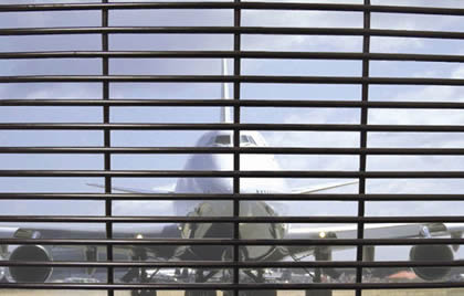 3510 high security welded fence as safety fencing for airport